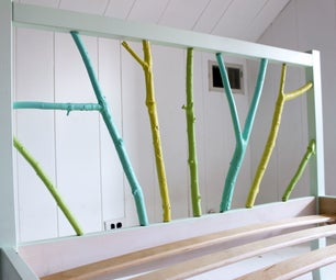 Ikea Hack: Painted Branch Bed Frame