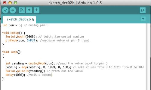 Program the Arduino : Thermistor