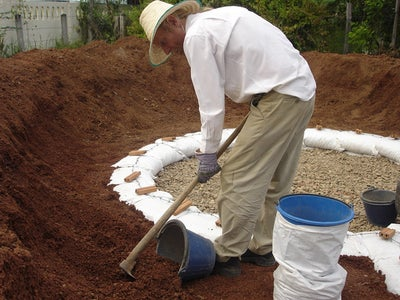 First Course of Soil-filled Earthbags