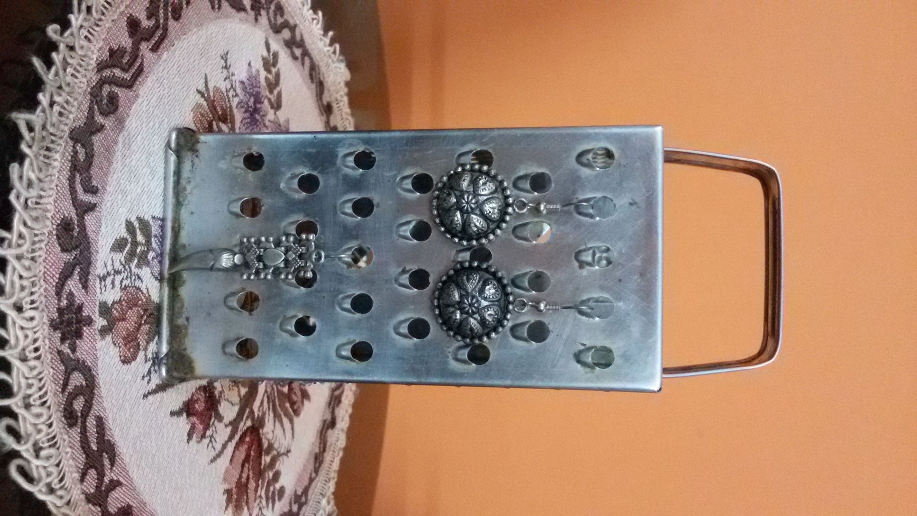 Kitchen Grater- Hang Earrings!