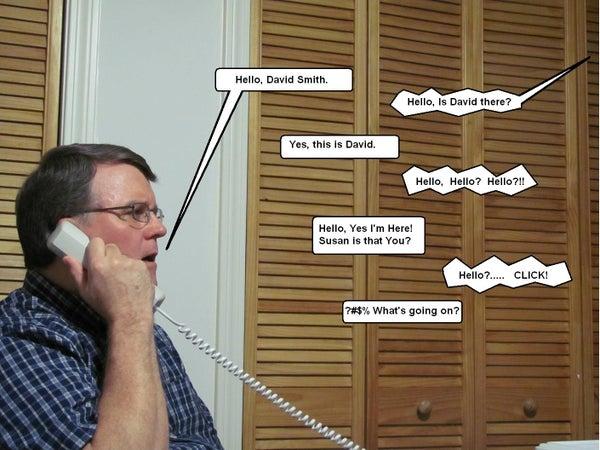 'Can You Hear Me Now?' Telephone Practical Joke