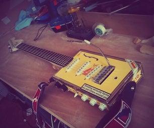 Electric Cigar-Box Guitar W/ Built in Amplifier