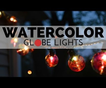Watercolor Globe Lights
