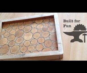 Built for Fun Plateau En Rondin De Bois - Plateau Log of Wood