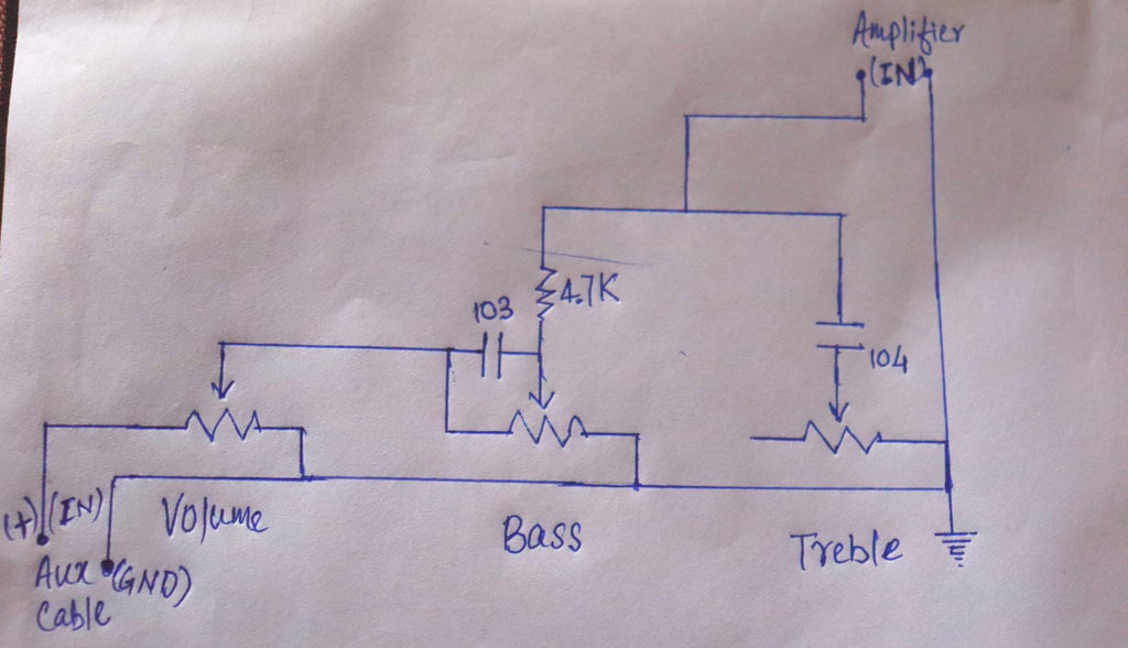 Volume, Bass and Treble Circuit in Audio Amplifier : 11 Steps -  Instructables | Bass Treble Circuit Diagram 4558 |  | Instructables
