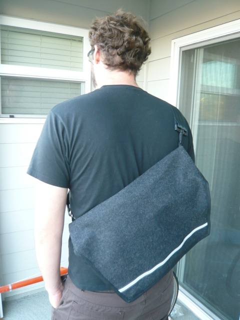 Lined Messenger Bag