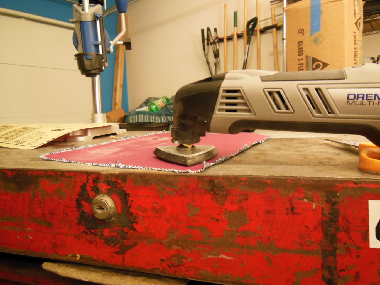 Cutting the Sandpaper Pad Apart