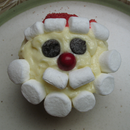 Cute Santa Face Cupcakes on a Budget!