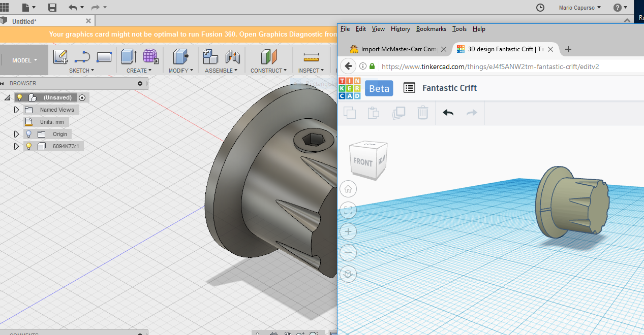 Import McMaster-Carr Components Into Tinkercad