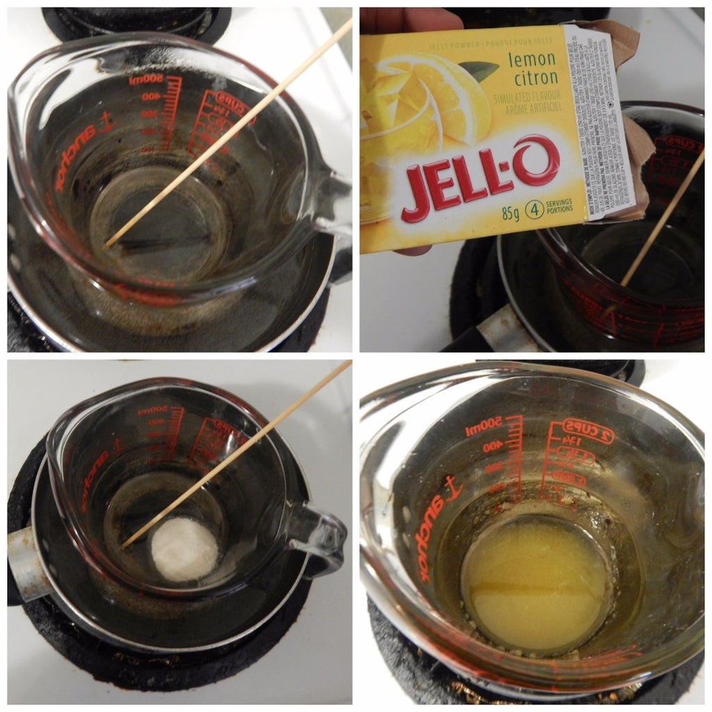 Melt  Jelly and Mix  Jell-o