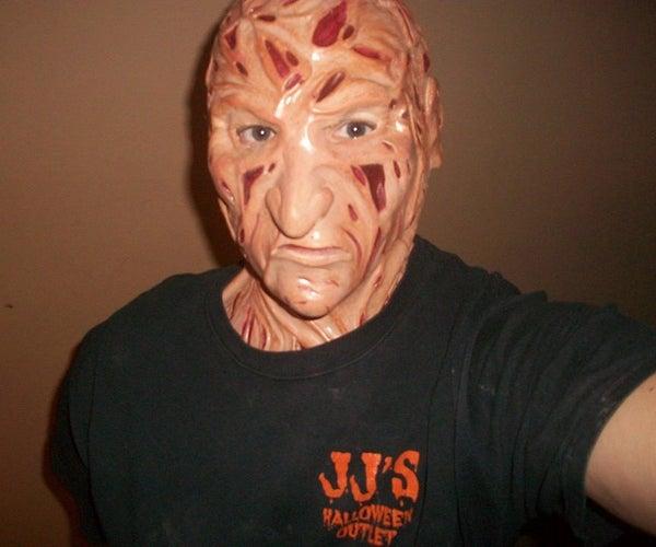 Handmade Freddy Krueger Latex Costume Mask