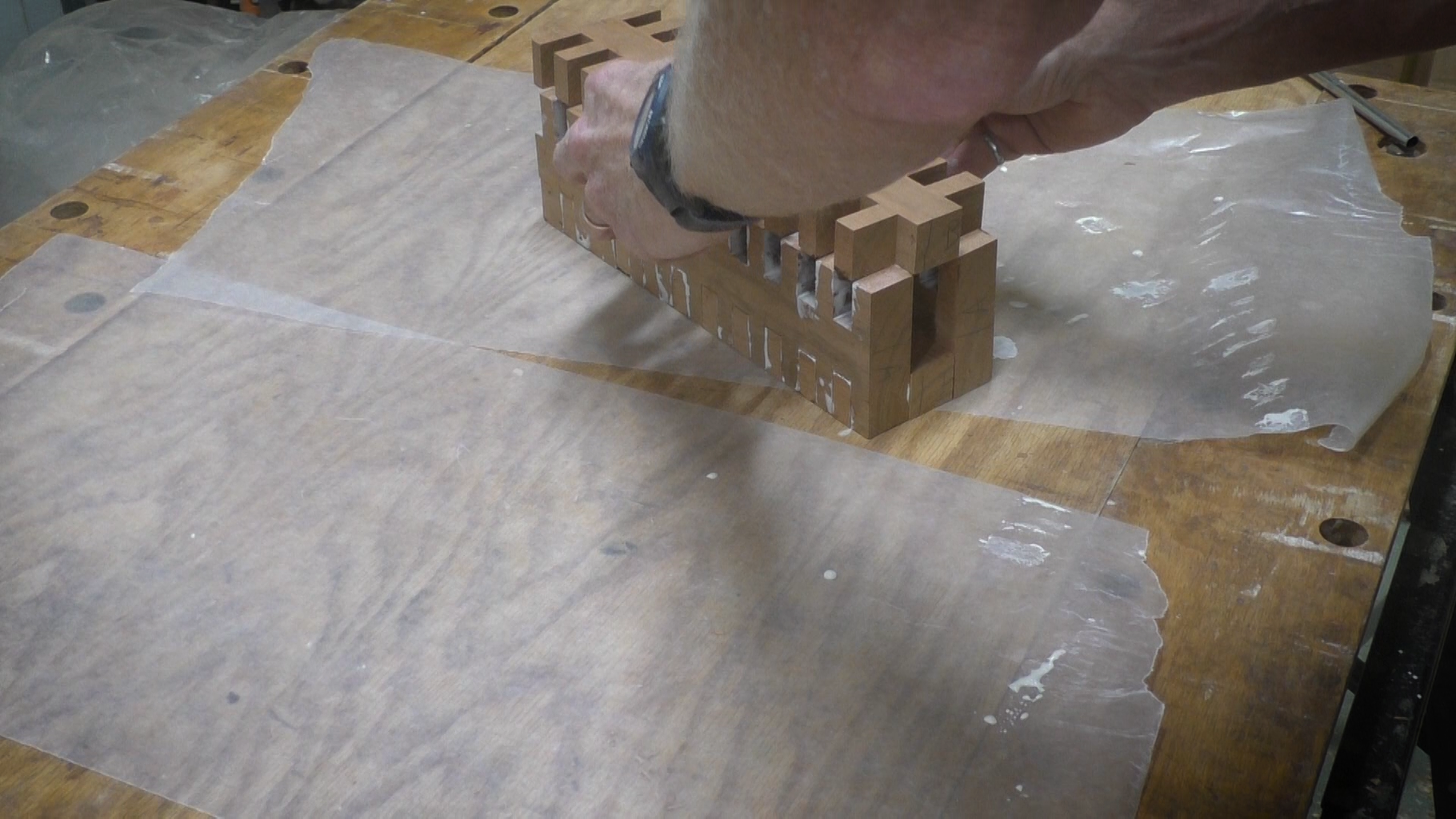 Assemble the Boards to Form the Column