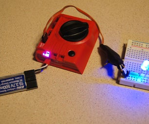 Convert a Servo to Switch on and Off LED's