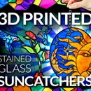 3D Printed Stained Glass Effect Suncatchers