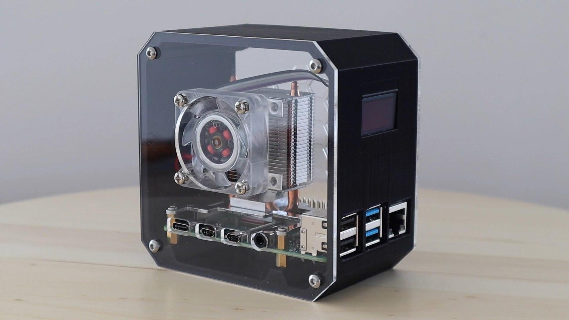 DIY Raspberry Pi Desktop Case With Stats Display