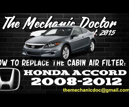 How to replace the cabin air filter : Honda Accord 2008-2012