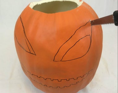 Carving Foam Pumpkins - Carving Large Sections