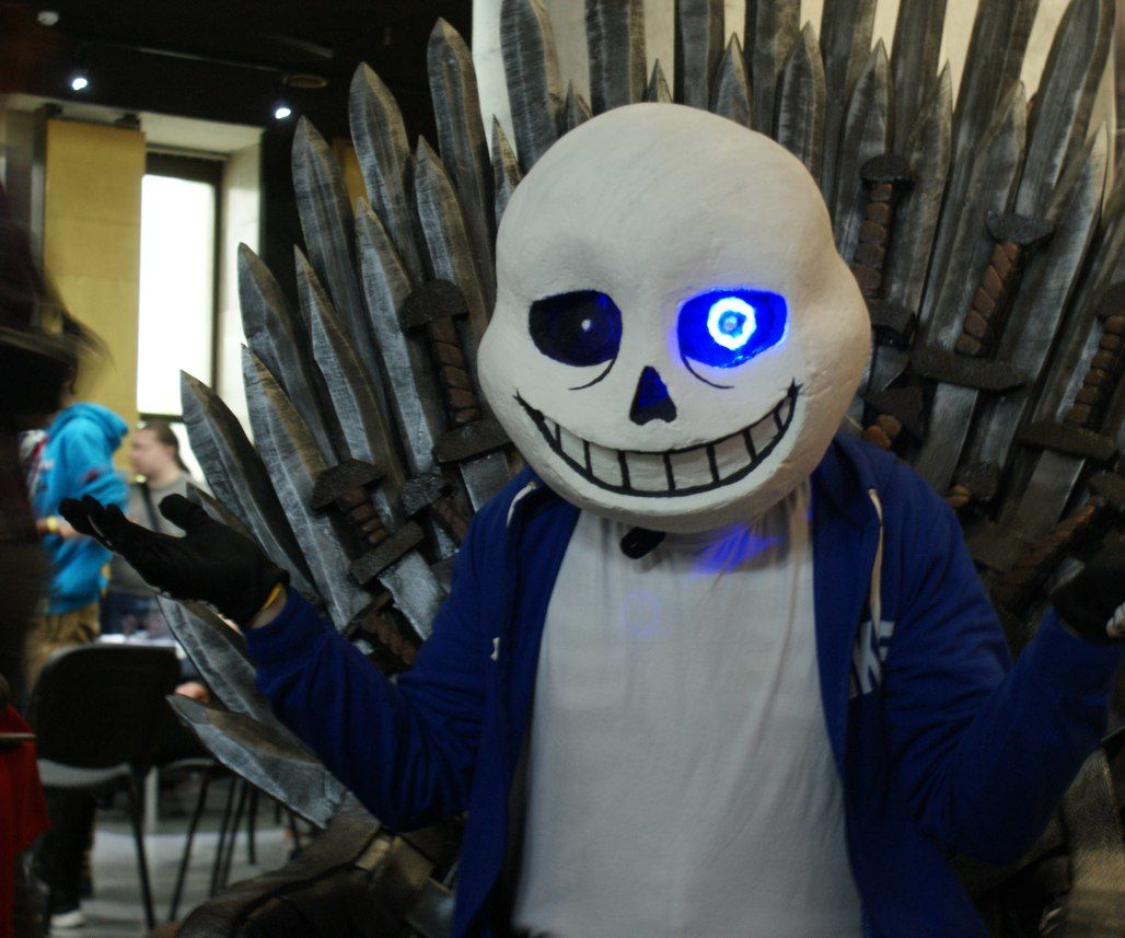 Sans mask cosplay (with LED)