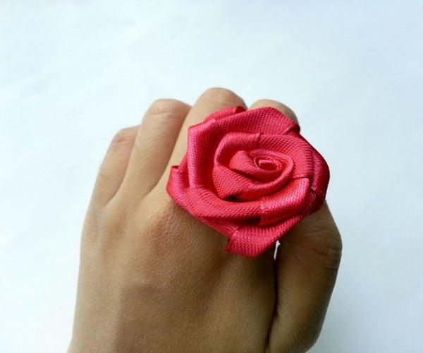 DIY Satin Rose Ring