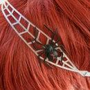 Flexible 3D Print Headband - Halloween Spider and Bloody Drips
