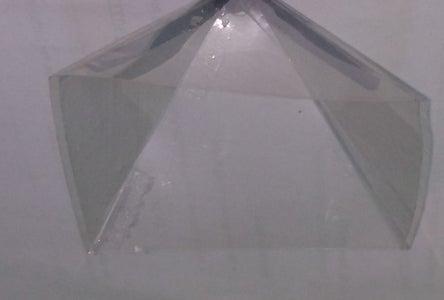 Make a Square Pyramid Using the Transparent Sheet