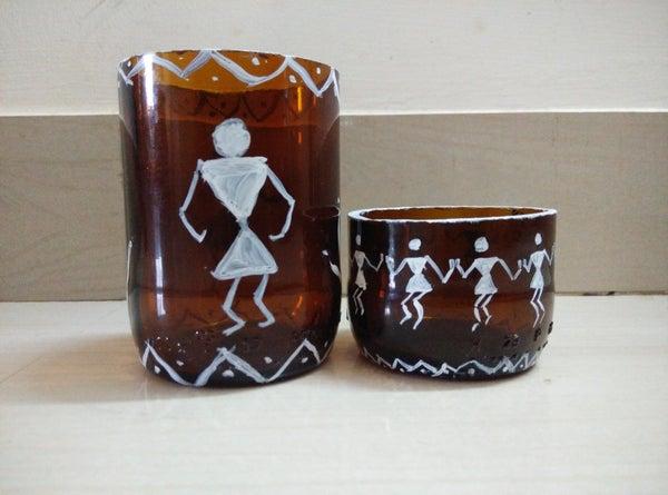 Glass Bottle Cutter and Warlis Art