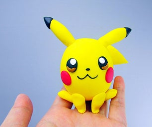 Pikachu Pokemon Polymer Clay Egg Figurine