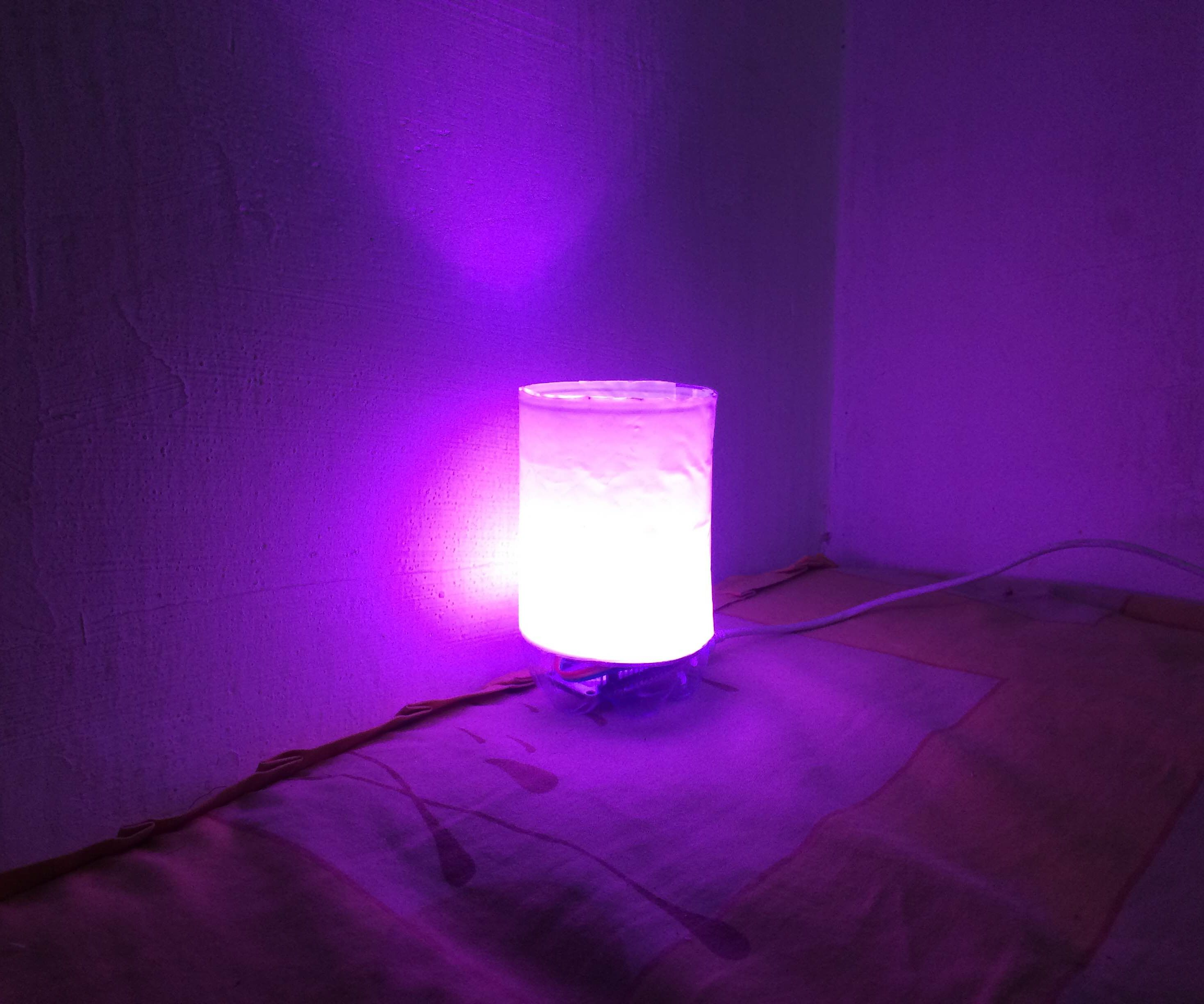 Easy IoT RGB Bed Lamp from Used Stuff with Cayenne