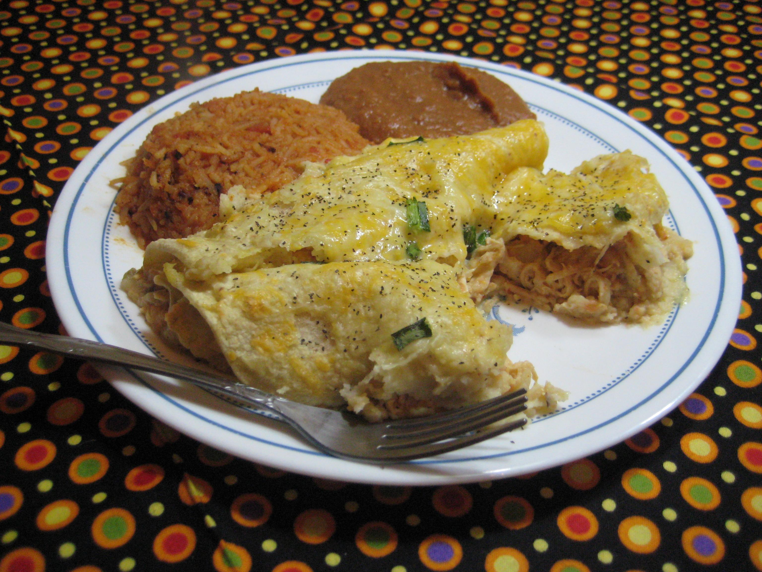 Bri's Easy Cheesy Chicken Verde Enchiladas
