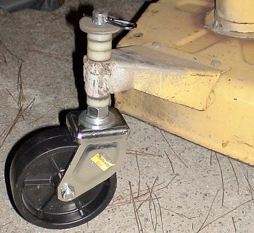 Build a Lawn Mower Caster