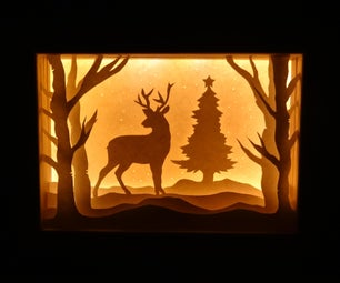 圣诞节影子盒 - 装饰物品