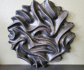 Plywood Power Carved Wall Art