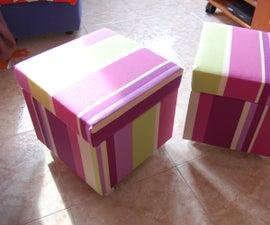 Storage in a Solsta Pallbo Footstool