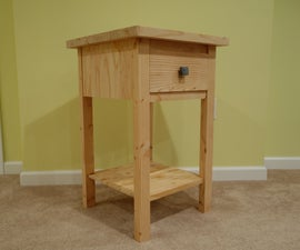 2x12 End Table With HDPE Knob