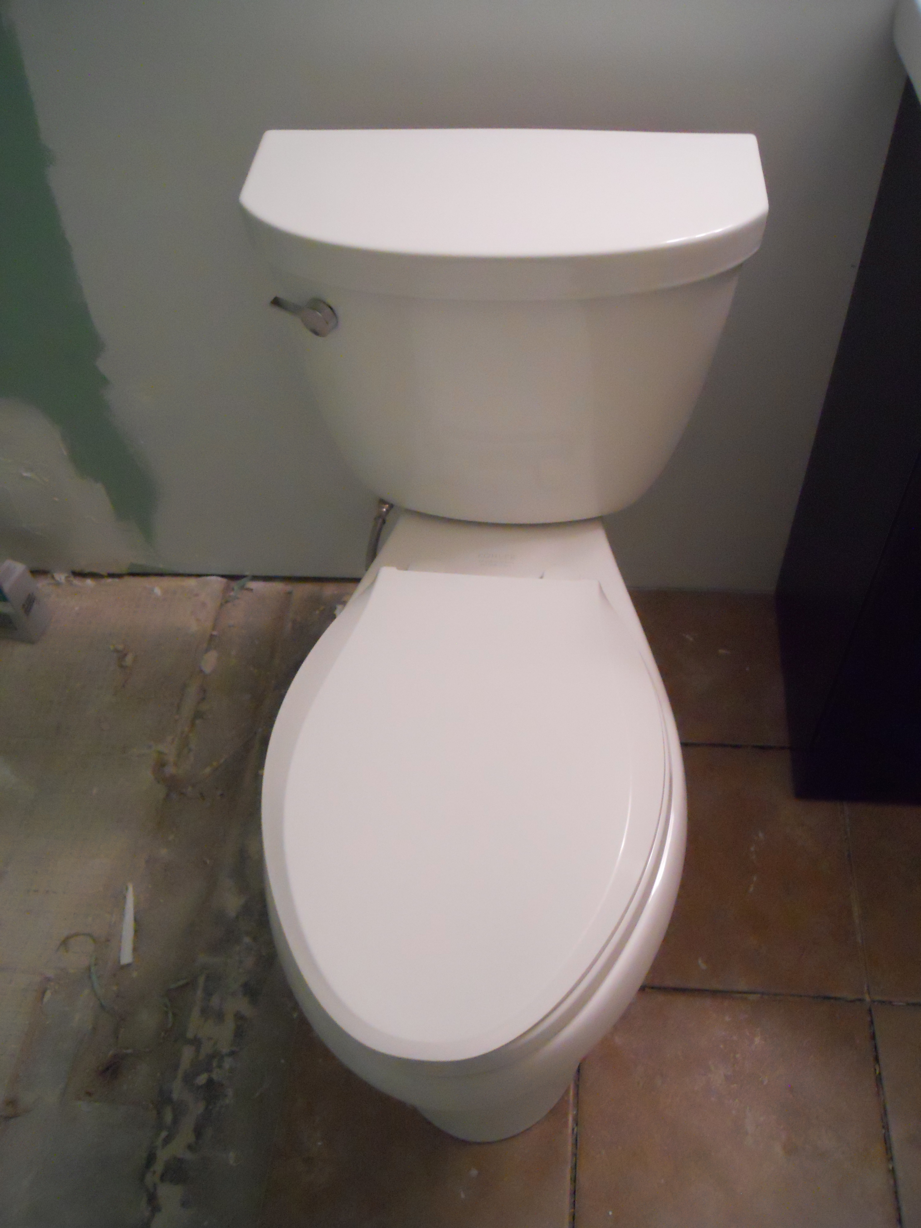 Installing a Toilet; Home Improvement
