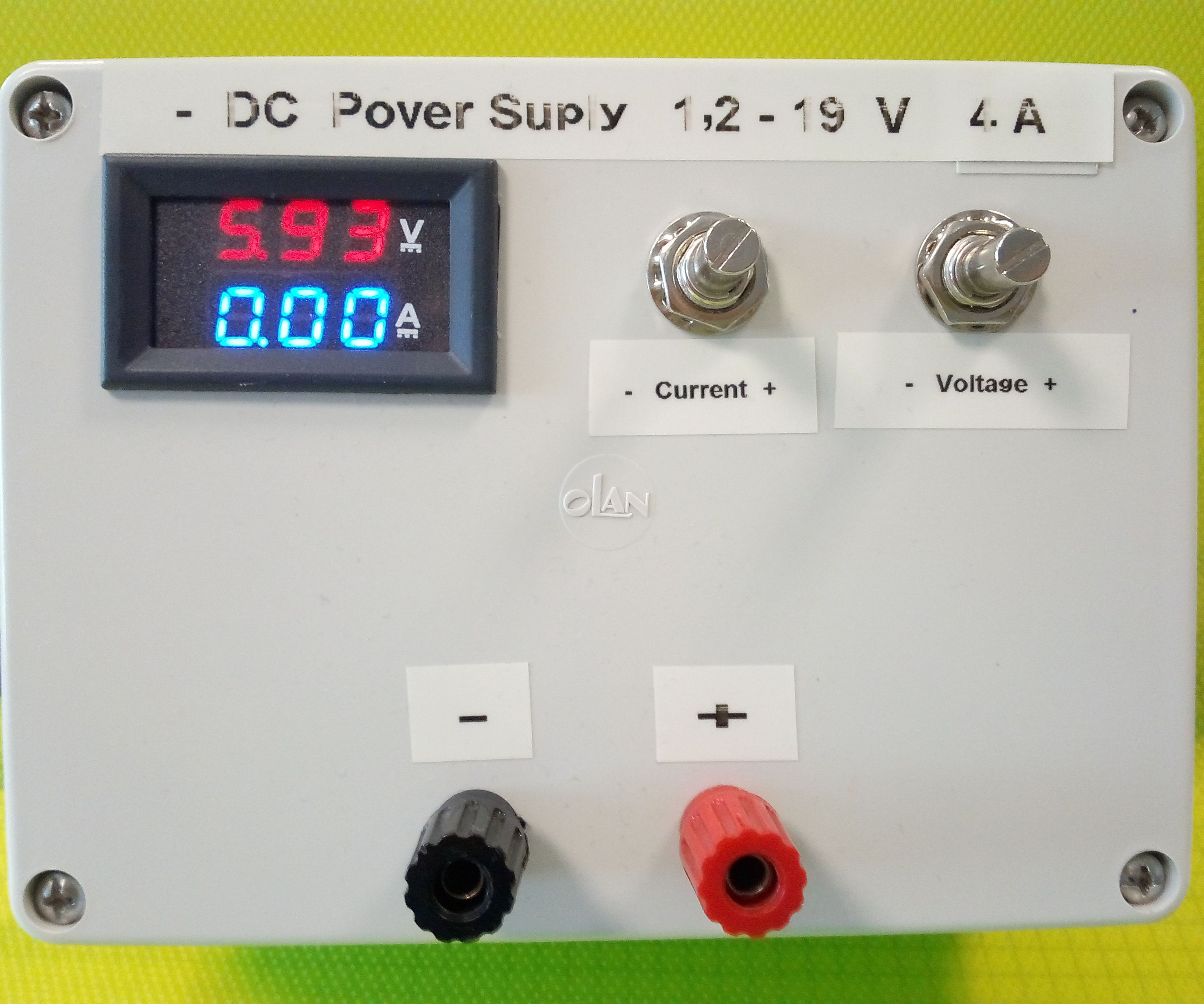 DIY Lab Bench Variable  Power Supply