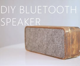 DIY Wooden Bluetooth Speaker