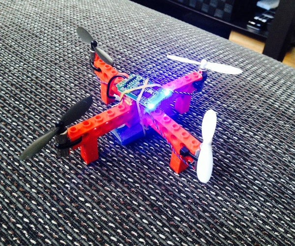 Cheap Flying Lego Quadcopter