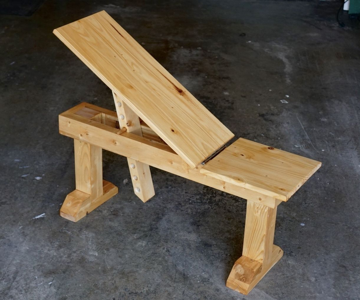Wooden Incline Weight Bench