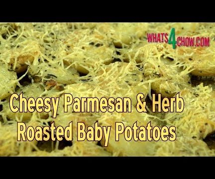 Cheesy Parmesan & Herb Roast Baby Potatoes - the Cheese Challenge