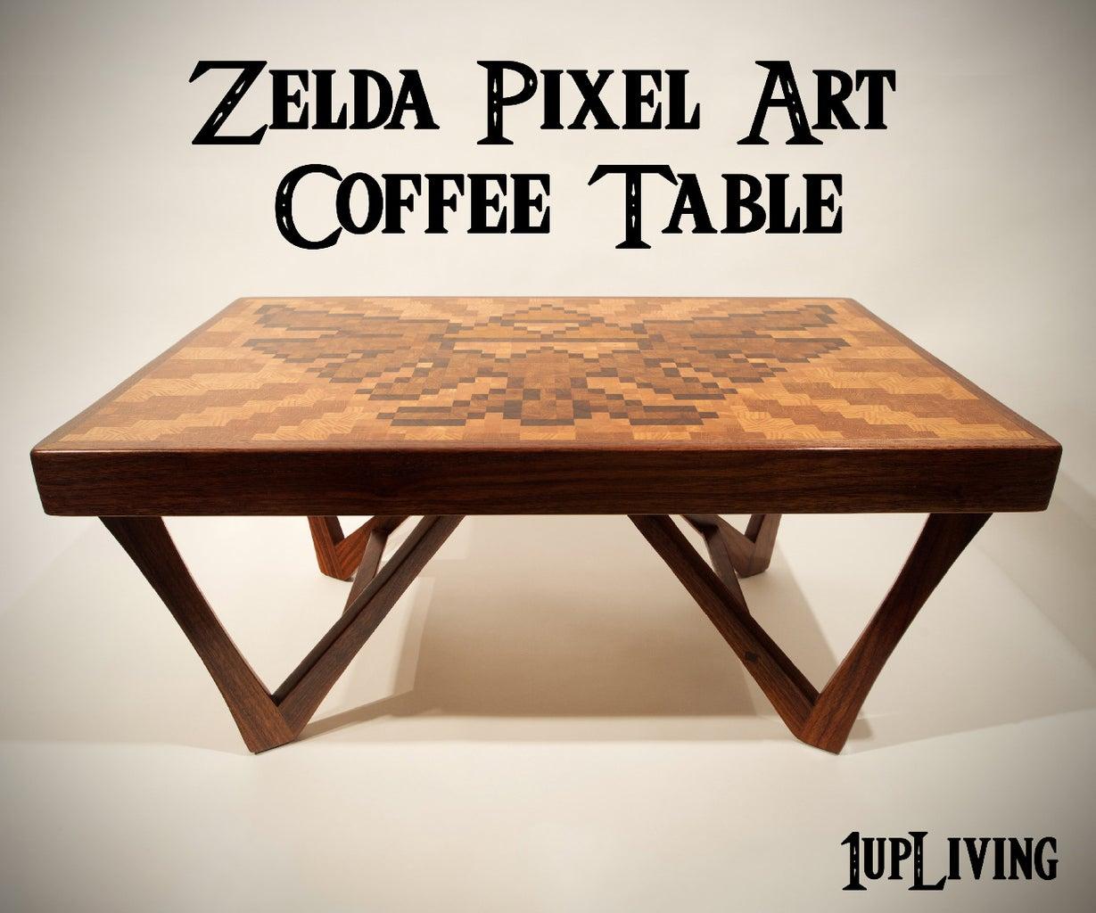 Zelda Pixel Art Coffee Table