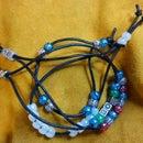 Easy Leather Cord & Bead Bracelets