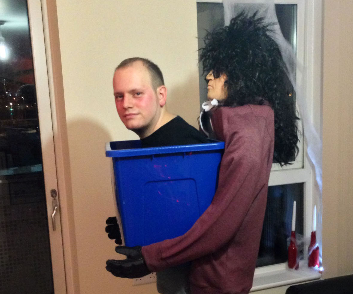 Man in a box Halloween costume
