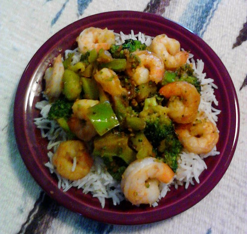 Teriyaki Shrimp, Broccoli, & Rice