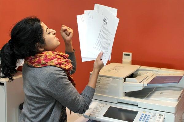 Photocopier Paperclip Prank