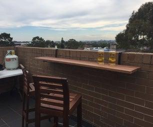 Hanging Balcony Bar Table
