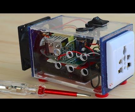 DIY Portable Power Inverter (12v DC to 220v AC)