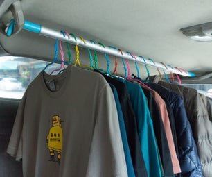 Adjustable Clothes Bar for Vehicle