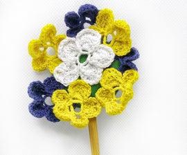 Irish Crochet Lace Kanzashi Hairpin À La Ascendance of a Bookworm