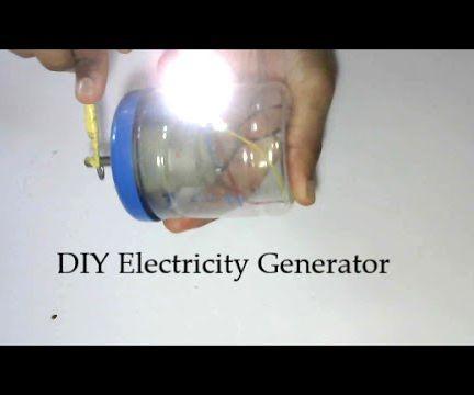 Homemade Electricity Generator